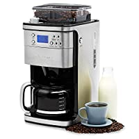 Andrew James Filter Coffee Machine with Integrated Bean Grinder