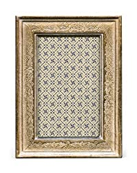 Cavallini Papers Florentine Frame, 5 by 7-Inch, Verona Silver