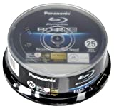 Panasonic 25 GB 6 x BD-R – Blu-ray Blank Discs (Cakebox)