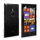 Yousave Accessories - Custodia per Nokia Lumia 925 Cover Duro Goccia di Pioggia, Nero/Trasparente