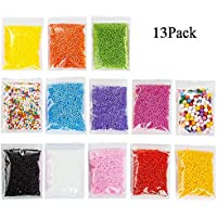 Vi.yo 13 Pack Micro Slime Foam Balls Beads Colorful Styrofoam Foam Bolas Esferas Rellenas Bolas Decoración para Floam Filler Arts Crafts Supplies