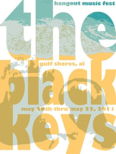 The Black Keys : Gulf Shores AL 2011 - U.S Concert Imported MU.Sic Wall Poster Print - 43cm x 61cm / 17 Inches x 24 Inches A2