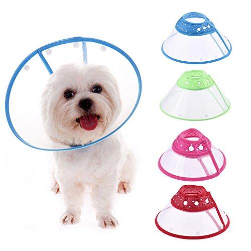 Colore DOT regolabile cane gatto animale domestico elisabettiano Grooming cicatrizzazione cone- 4taglie disponibili, colore inviato casualmente