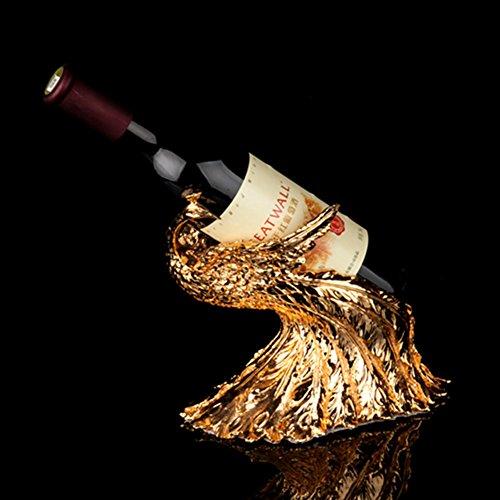 GX&XD Moderner Phoenix Weinflaschenhalter,Kreatives Luxusdekorations-Verzierungs-Ausgangswohnzimmer Weinregal-golden - Aus Verzierungen