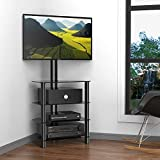 FITUEYES TV Stand with Mount Entertainment Unit for 32-50 inch LCD LED Swivel TW406001MB