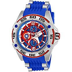 Invicta 27024 Marvel - Captain America Reloj Unisex acero inoxidable Cuarzo Esfera azul