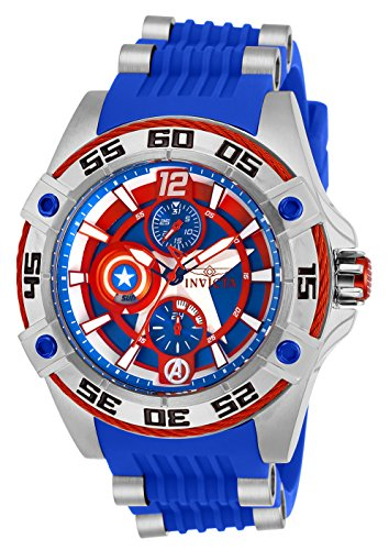 Invicta 27024 Marvel - Captain America Unisex Wrist Watch Stainless Steel Quartz Blue Dial