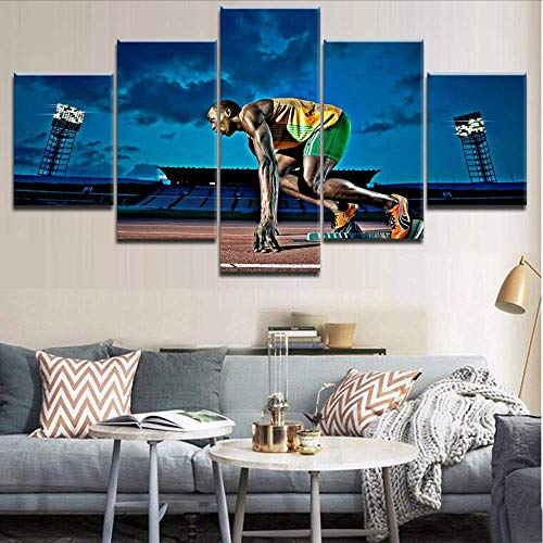 Wuwenw 5 Pieces Hd Print Top-Rated Painting Runners-Bring The Beat Type Poster For Modern Decorative Living Room Framework,16X24/32/40Inch,Without Frame