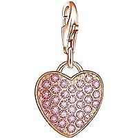 Thomas Sabo Damen-Charm Anhänger Herz 925 Sterling Silber rosegold pink