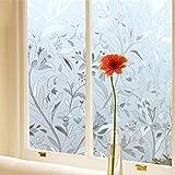 Tubwair 45100cm 3D finestra pellicola decorativa non adesiva privacy static clings satinato Stained Flower Glass Window film sticker anti-UV film privacy privacy Home Office decorazione in vetro