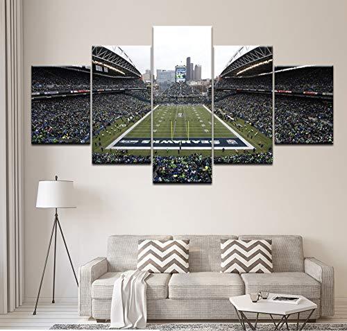 GLORIOUS YY HD Impreso 5 Unidades Arte De La Lona Seattle Seahawks Fútbol  Centurylink Campo Lienzo Arte De La Pared Pintura De La Pared Cuadros para