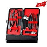 Professional Manicure Pedicure Set Nail Clippers for Men, 16 Pcs Stainless Steel Mens