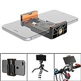 Fantaseal Smartphone Pince Réglable, 50mm-80mm Fort Téléphone Support Portable, 1/4'' Vis Filetage Universel Adapteur de Trépied Selfie Perche Monopode pour Iphone X/ 7+/ 7 Samsung etc