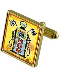 Route 66 Bomba de gasolina de tono Oro gemelos en la bolsa