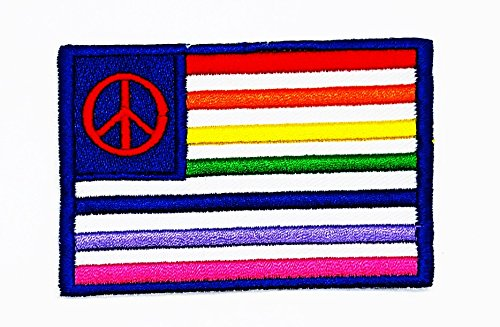 rabana Rainbow Peace Sign Cartoon Kids Kinder Cute Animal Patch für Heimwerker-Applikation Eisen auf Patch T Shirt Patch Sew Iron on gesticktes Badge Schild Kostüm