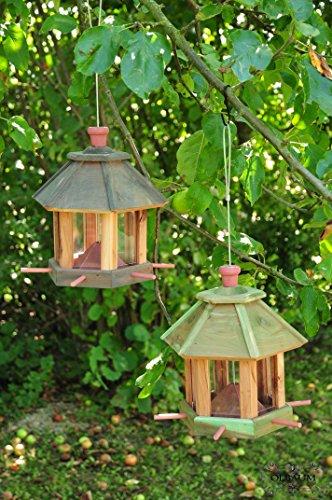 2 x voliera, batovi-mangime per uccelli, con illuminazione giardino -
