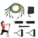 Expander Set,Brotou Widerstandsband Resistance Bands Fitnessbänder für Yoga Fitnesstraining / Stretching / Workout Zuhause, Trainingsbänder mit Griffe, Fußschlaufen & Türanker, Gymnastikband Trainingsbänder Fitnessbänder Expander für Arme & Beine (1 Pack)