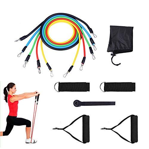 Expander Set,Brotou Widerstandsband Resistance Bands Fitnessbänder für Yoga Fitnesstraining / Stretching / Workout Zuhause, Trainingsbänder mit Griffe, Fußschlaufen & Türanker, Gymnastikband Trainingsbänder Fitnessbänder Expander für Arme & Beine (1 - Tür-workout-system