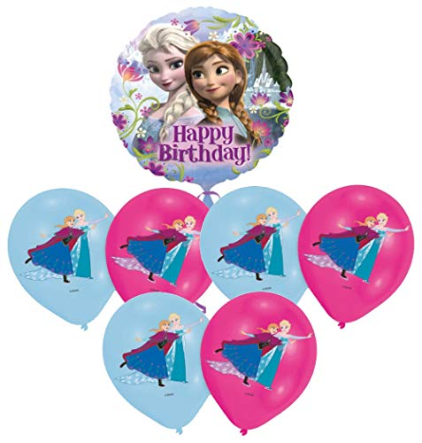 Libetui Kindergeburtstag Deko Luftballons 'Eiskönigin' Kinder Geburtstag Dekoration Set Happy Birthday Deko-Luftballon Frozen Balloons (Birthday Happy Frozen)