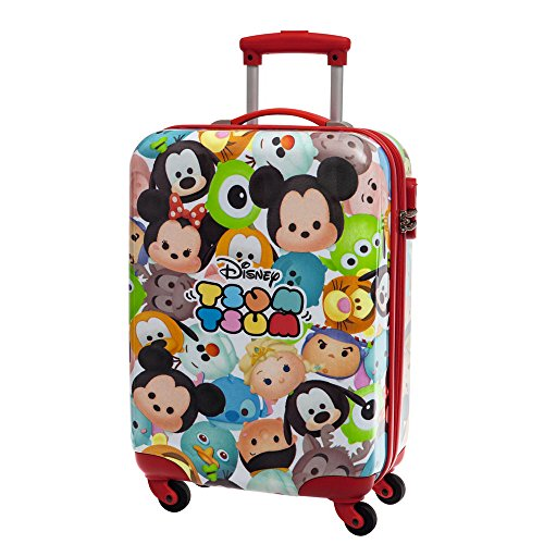 Disney Tsum Tsum Maleta de Cabina Rígida, 35 Lt, Color Rojo