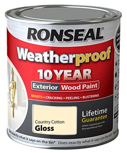 Ronseal Wetter 10 Jahre Holzfassadenfarbe Gloss 750ml Land Cotton