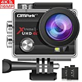 Campark Action Cam 4K WiFi Sports Action Kamera 16MP Ultra Full HD Helmkamera Wasserdicht mit Dual...