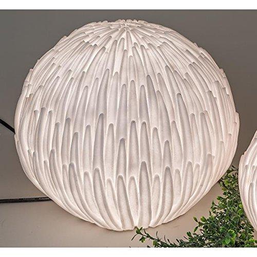 Kugellampe, Leuchte, Gartenlampe BLÜTE H 36cm, weiß wetterfest Formano