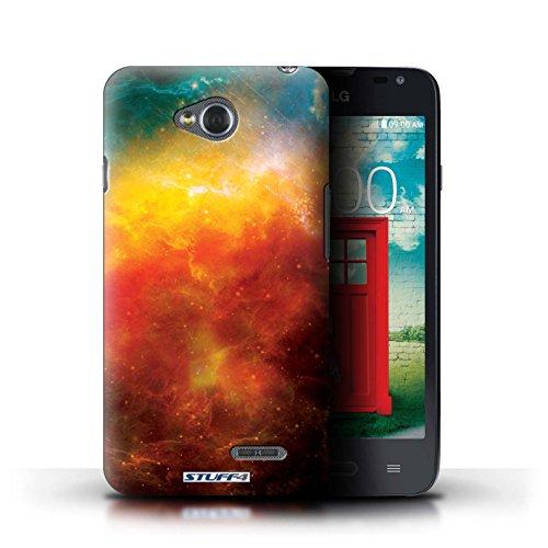 Kobalt® Imprimé Etui / Coque pour LG L65/D280 / Planète Bleue conception / Série Cosmos Nébuleuse Orange