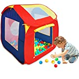 | Kinder Spielzelt Bällebad | + 200 Bälle | abnehmbares Dach | POP UP Kinderzelt | Für Drinnen und Draußen | Spiel Haus Zelt Iglu Baby Kleinkinder Jungen Mädchen