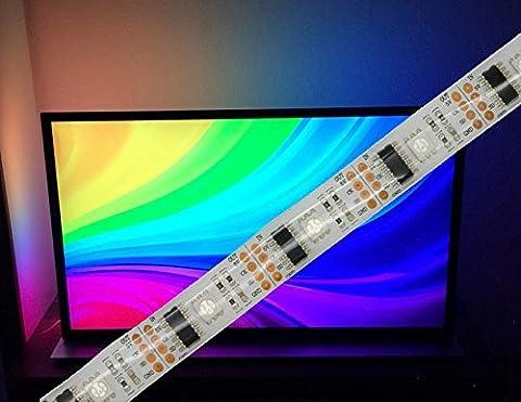digitaler LED RGB Stripe mit WS2801 Chipsatz, vergossen / Spritzwassergeschützt (IP65), 32 LED's/m, geeignet für Raspberry Pi (Hyperion) -