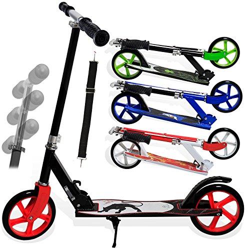 Kesser® Scooter Roller Cityroller Kinderroller Tretroller Kickroller Kickscooter, Kinder 205mm klappbar ABEC7 Kugellagern Design / Farbe:Panther (White)