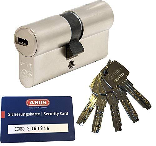 ABUS EC660 Profil-Doppelzylinder Länge (a/b) 30/40mm (c=70mm) mit 5 Schlüssel, mit Sicherungskarte