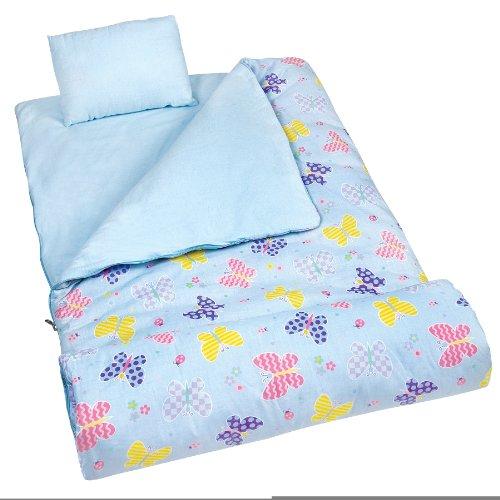 wildkin-17113-olive-kids-butterfly-garden-sleeping-bag