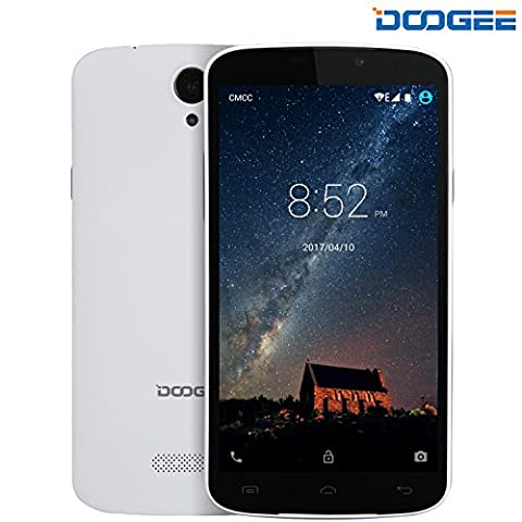 Smartphone ohne vertrag, DOOGEE X6S Dual SIM Android 6.0 Handy, 5.5 Zoll HD IPS Display, MT6735 Quad-Core, 1GB RAM + 8GB ROM - Micro SD card ( T-FLASH card) 32GB - (Neuerscheinungen Games)