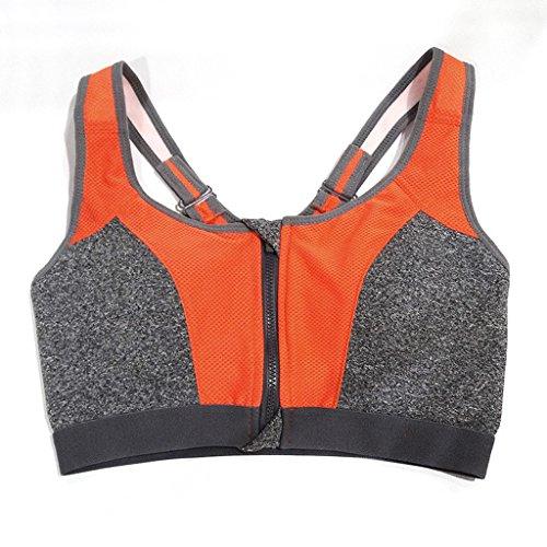ny Sports Underwear Shock Running Fitness Vest Recueillir mince section de yoga sans traces sans soutien-gorge Orange