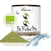 Superfood Refine Mix Orgánico | 200 gramos Espirulina, Chlorella, Hierba de trigo y Cebada