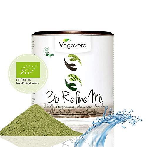 superfood bio vegavero® | 200 g | ricostituente naturale | con clorella, spirulina, erba d'orzo ed erba di grano | refine mix | vegan