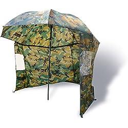 Zebco 9974253 Parapluie Long en Toile Nylon Camouflage 2,20 m (pour Adulte)