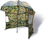 Zebco Schirme Nylonstorm Umbrella 2.20m Camou - Paraguas de Pesca, Color Multicolor, Talla 2.20 m