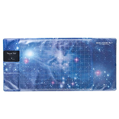 Beautyrain Kreatives Muster Mauspad Beschützer Matte Multifunktionale PVC Wasserdicht Anti-Slip (Sternenhimmel)