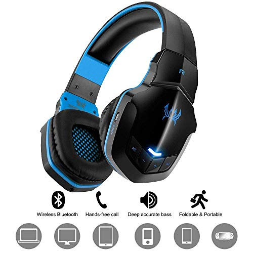 Wireless Gaming Headset diwuer V4.1 Connection Bluetooth OverEar Kopfhörer mit Mikrofon für PC Computer Mac Laptop iPhone Smartphone