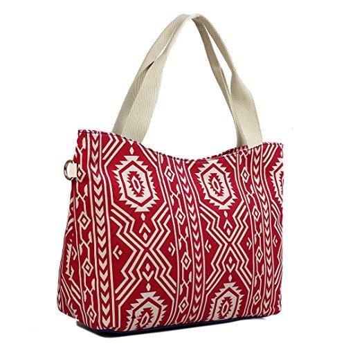 Miss Lulu ,  Damen Strandtasche Aztec 1 Red