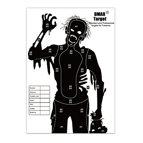 DMAR Zielscheiben Papier Silhouette Tactical Training Ziele Serie für Shooting Airsoft Outdoor Reichweite im Innenbereich 42 cm *30 cm 20Stück (Schrotflinte Bb)