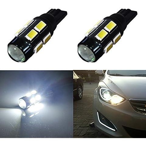 AGLINT 12v T10 5630 12W FPC blanco caliente coche llevó la matrícula de la lámpara interior de bóveda Luz Con Len Pack de