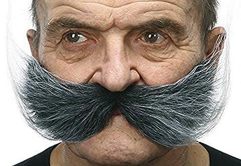 Moustache du pêcheur poivre et sel