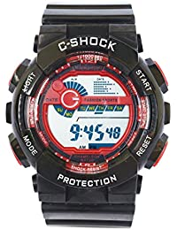 VITREND (R-TM) Protection Am-pm Display Red Sports New Generation Digital Watch - For Men & Women