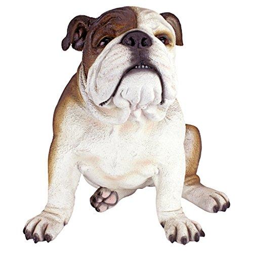 Design Toscano Buster die Bulldogge Britische Gartenstatue, Polyresin, vollfarbe, 41 cm -