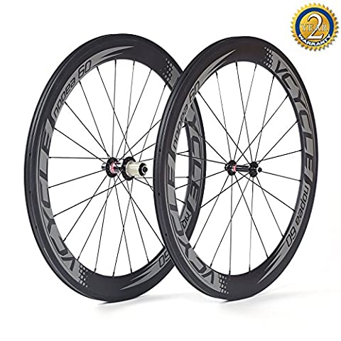 VCYCLE NOPEA60 700C 60mm 1520g Ultra Light Clincher Racing Road Bike Carbon Fiber Wheelset for