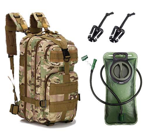 Militär Rucksack mit Trinkblase Set (Multicam-Tarn, 25L)