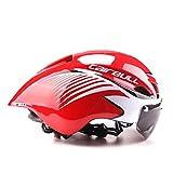 Cairbull Fahrradhelm 2018 für Damen/Herren, Fahrradrennen, mit Brille / Visier, verstellbar 56cm-61cm, schwarz M 5